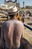 有被盐溶的后面的人 免版税图库摄影