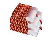 有被隔绝的样式的红色礼物盒 库存图片