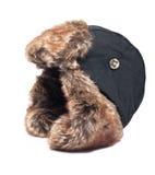 有被隔绝的耳朵挡水板的帽子 免版税库存图片
