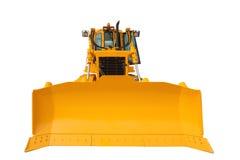 有被隔绝的裁减路线的现代挖掘机推土机 免版税库存图片