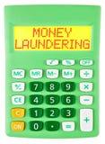 有被隔绝的洗钱的计算器 库存图片