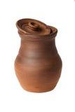 有被去除的盒盖的陶瓷水罐 免版税库存图片