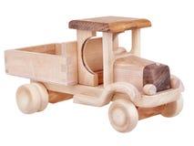 有裁减路线的木玩具卡车汽车 库存照片