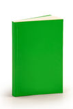 有裁减路线的空白的绿皮书盖子 库存照片