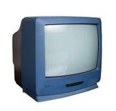 有裁减路线的老电视 免版税库存图片
