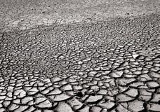 有裂痕的泥表面 免版税库存照片