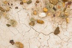 有裂痕的空白黏土在沙漠 图库摄影