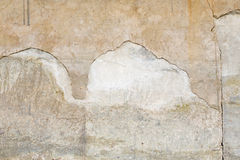 有裂缝的难看的东西水泥水泥墙壁 免版税库存图片