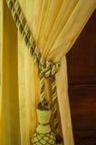 有装饰品的窗帘 免版税库存图片