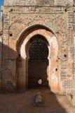 有装饰的, Chellah,拉巴特,摩洛哥门 免版税库存照片