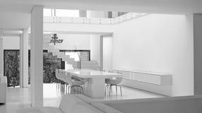 有装饰的2豪华现代客厅 免版税库存照片