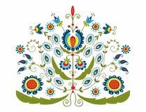 有装饰花卉的波兰伙计 向量例证