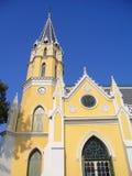 有西部教会样式的泰国寺庙 图库摄影