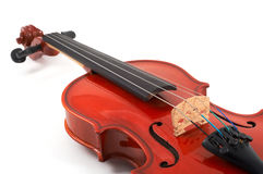 有角度的特写镜头视图小提琴 免版税库存照片