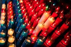 有角度的蜡烛蒙特塞拉特 免版税库存图片