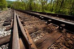 有角度的铁轨 免版税库存图片