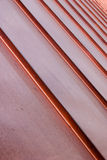 有角度的铜板条 免版税库存照片