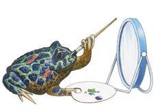 有角巴西的青蛙 库存图片