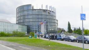 有警察EU议会的多辆警察宪兵队搬运车 影视素材