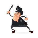 有警棍的警察 免版税库存照片