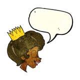 有讲话泡影的动画片公主 库存图片