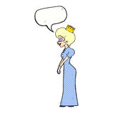 有讲话泡影的动画片公主 库存照片