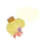有讲话泡影的动画片公主 免版税库存图片