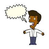 有讲话泡影的动画片叫喊的人 库存图片