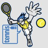 有讲话泡影的网球员 向量例证