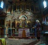 有许多的一个老乌克兰教会象 免版税图库摄影