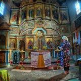 有许多的一个老乌克兰教会象 库存图片