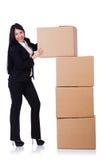 有许多的妇女箱子 免版税图库摄影