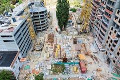 有许多的建造场所设备 免版税库存图片