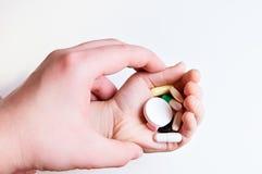 有许多的手五颜六色的片剂 免版税图库摄影