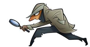 偷偷地走的间谍 库存图片
