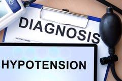 有诊断低血压症的片剂 图库摄影
