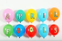 有词组的五颜六色的气球 图库摄影