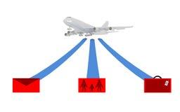 有象的空中飞机 免版税图库摄影
