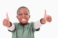 有赞许的男孩 免版税库存照片