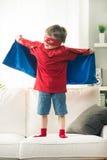 有超级大国的小超级英雄 库存照片