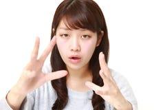 有超自然的力量的年轻日本妇女 图库摄影