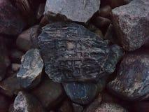 有趣岩石 免版税库存照片