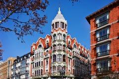 大厦在街市的巴里阿多里德 免版税库存照片