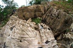 有趣的岩石停放与棕色颜色做可爱的石公园 库存图片