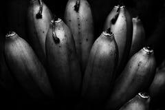 有趣的束香蕉 免版税库存照片