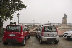 有车号牌的圣马力诺汽车 库存图片