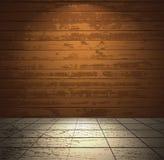 有轻的楼层的木空间 图库摄影