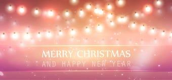 有轻的灯和星的圣诞节诗歌选 皇族释放例证