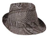 有边缘的帽子 背景帽子查出的白色 免版税库存图片
