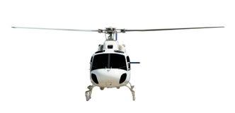 有运转的推进器的飞行直升机 免版税图库摄影